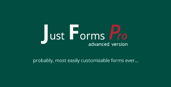 Just Forms Pro Advanced - CodeCanyon Item for Sale