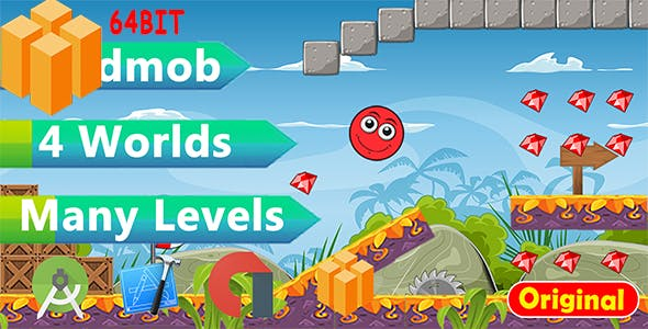 Jungle Red Ball World - Buildbox Bbdoc 64bit
