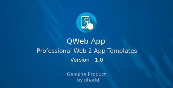 QWeb App - Professional Web2App Template | Material Design, OneSignal, Admob Ads