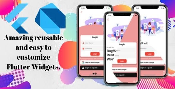 Amazing Reusable and Easy to Customize Flutter Widgets.
