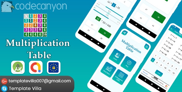 Multiplication Table, Learn and Play - CodeCanyon Item for Sale