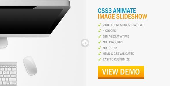 CSS3 Animate Image Slideshow
