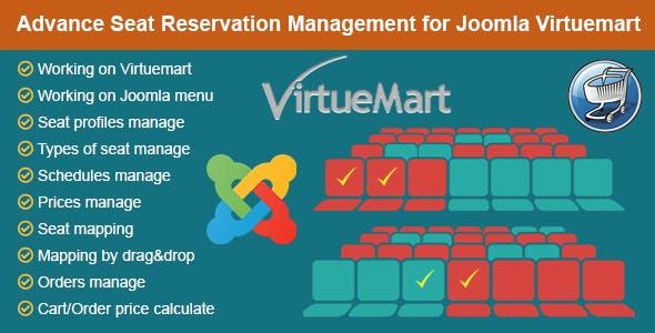 Advance Seat Reservation Management for Joomla Virtuemart