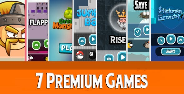 Mega Bundle 7 Games - IOS xcode + Admob