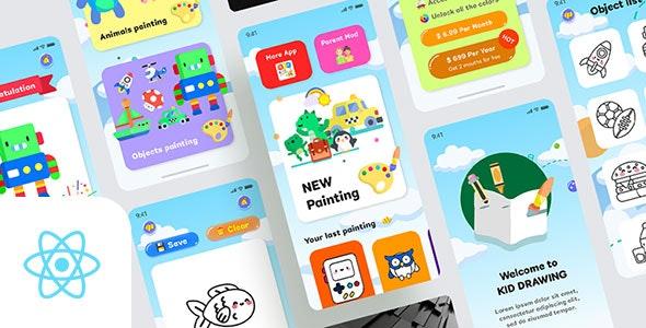 Kids Draws - React Native App - CodeCanyon Item for Sale