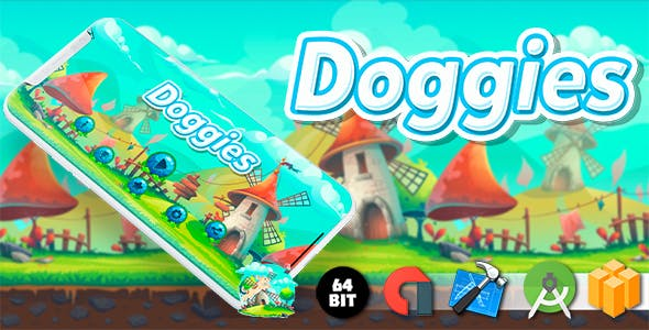 Doggies Android iOS Buildbox Game Template with AdMob Interstitial Ads