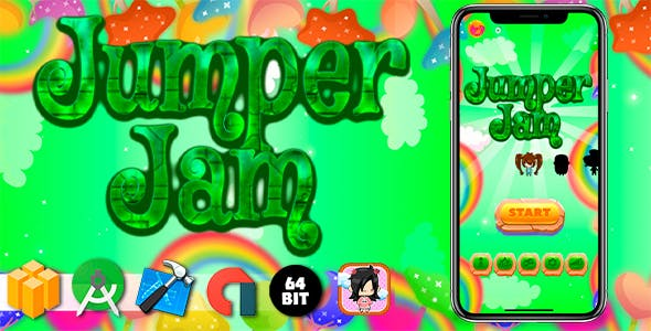 Jumper Jam Android iOS Buildbox Game Template with AdMob Interstitial Ads