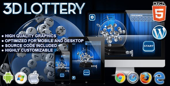 3D Lottery - HTML5 Instant Win Game