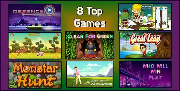 Top 8 HTML5 Games Bundle 01 Capx