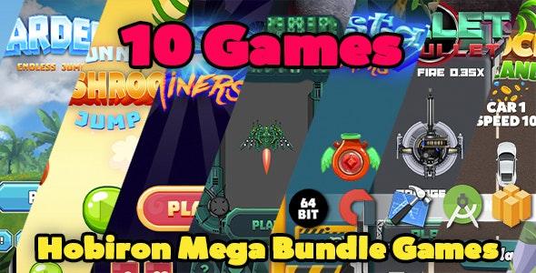 Hobiron Mega Game Bundle ( 10 BBDOC Games in 1 ) - CodeCanyon Item for Sale