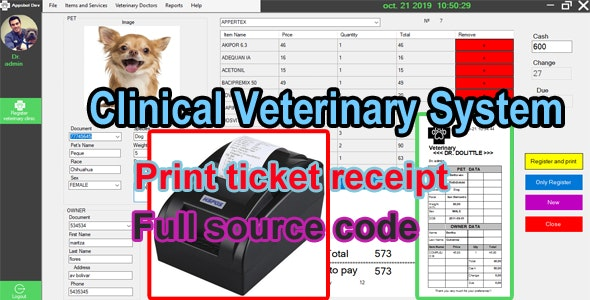 Veterinary Clinic System - C# MySQL - CodeCanyon Item for Sale