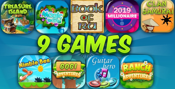HTML5 9 GAMES BUNDLE №3 (CAPX) - CodeCanyon Item for Sale