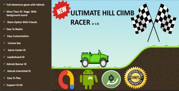 Ultimate Hill Climb Runner Full Adventure Android Project With Adbod