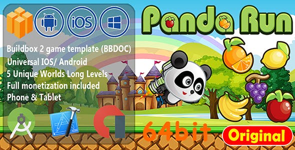 Panda Run Fruits Buildbox BBDOC 64bit