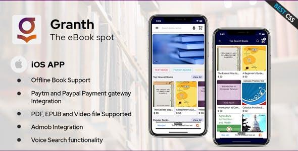 Granth - iOS Ebook App Swift 4 + Admin panel
