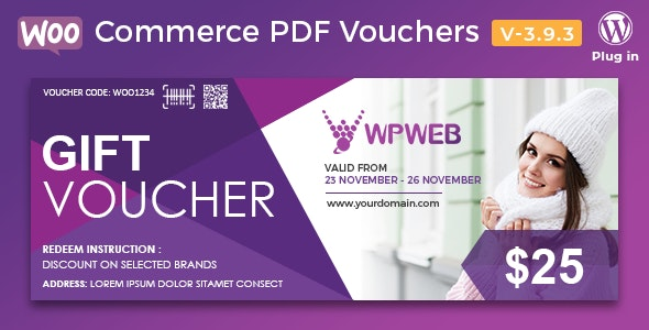 BESTSELLER Plugin: WooCommerce PDF Gutscheine – WordPress Plugin