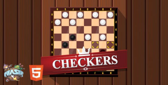 Checkers - HTML5 Game (Phaser 3)