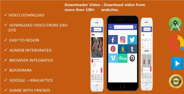 Downloade Video  - Supported 100+ sites