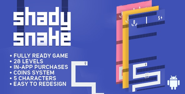 Shady Snake - ANDROID - Game Template - CodeCanyon Item for Sale