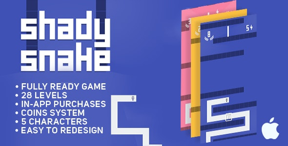 Shady Snake - IOS - Game Template - CodeCanyon Item for Sale