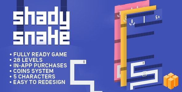 Shady Snake - BUILDBOX - ANDROID - Game Template - CodeCanyon Item for Sale