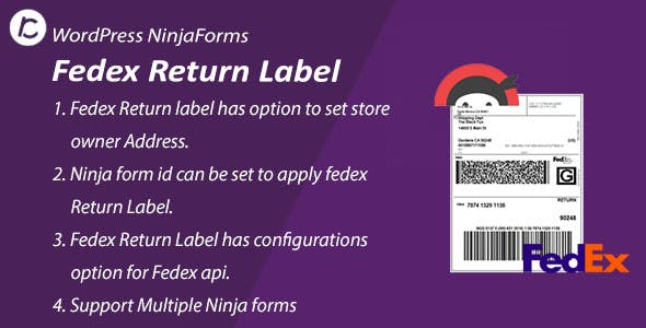 FedEx Return Label Using Ninja Form
