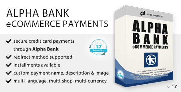 Alpha Bank eCommerce Payments for Prestashop - CodeCanyon Item for Sale