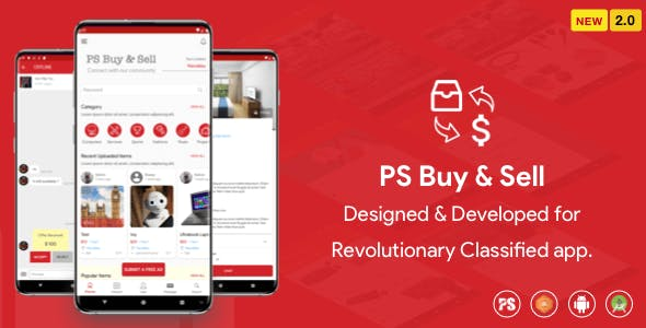 PS BuySell ( Olx, Mercari, Offerup, Carousell, Buy Sell ) Clone  Classified App (2.0)