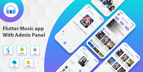Flutter App Music With Admin Panel