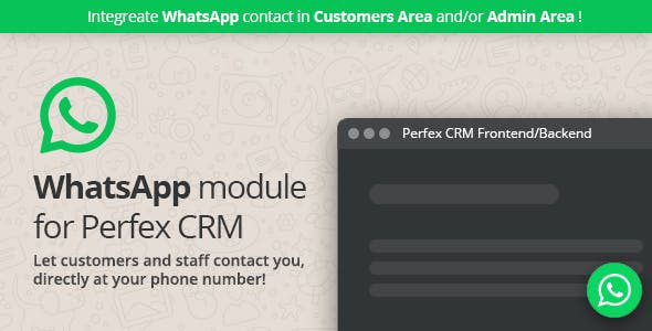 WhatsApp module for Perfex CRM