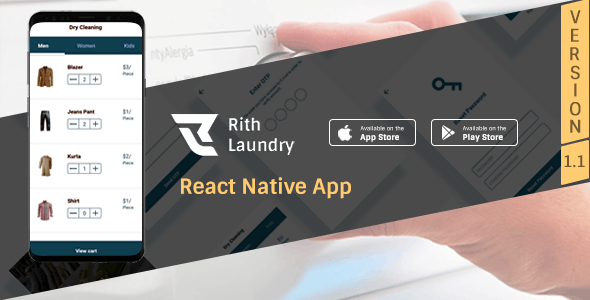 Rith Laundry React Native App - CodeCanyon Item for Sale