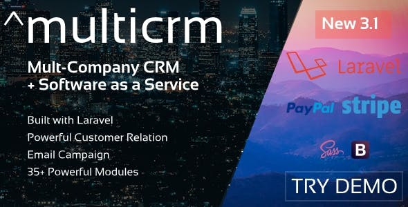 ^Multicrm - Multipurpose Powerful Laravel CRM + Landing Page (Saas)