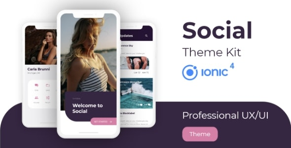 Social Theme - Professional UX/UI Kit for Ionic 4 - CodeCanyon Item for Sale