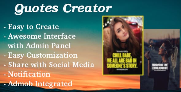 Quotes Creator - Story Maker with Admin Panel