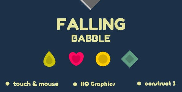 Falling Babble - HTML5 Game (Construct3)