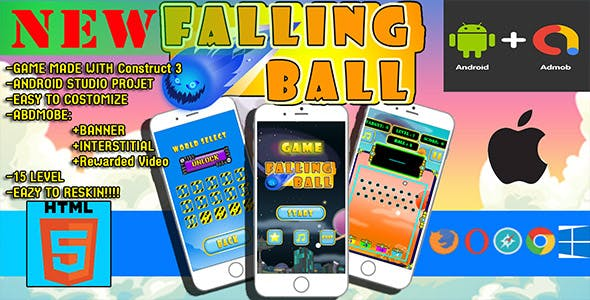 android game : fallin ball adventure game