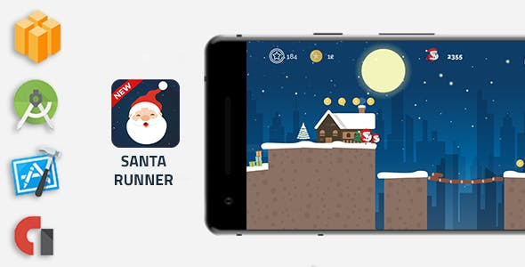 Santa Runner - Buildbox Game Template
