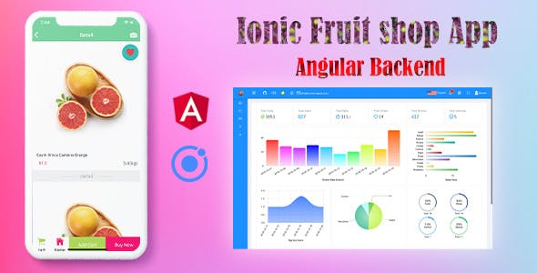 Ionic 4 Online Fruit Shop App with Angular Admin Backend