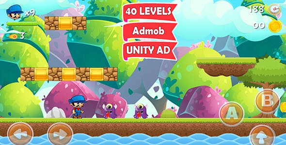 Super World Adventure  Platformer Complete Unity Game