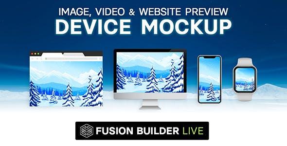 Fusion Builder Live Device Mockup - Image, Video & Website Preview for Avada Live (v6+)