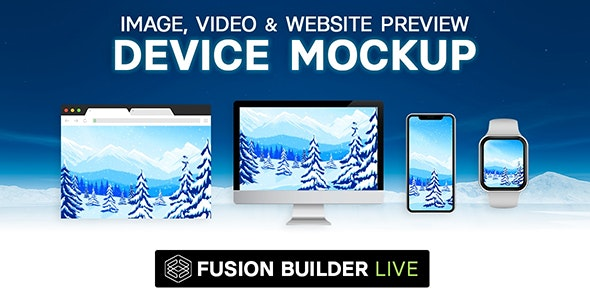 Fusion Builder Live Device Mockup - Image, Video & Website Preview for Avada Live (v6+) - CodeCanyon Item for Sale