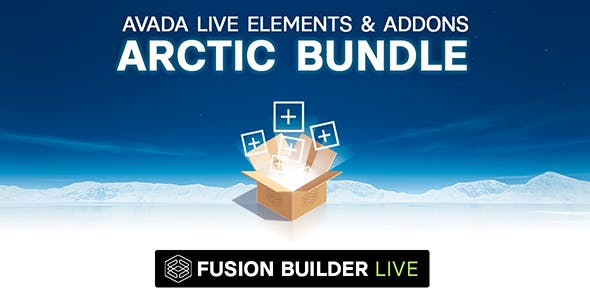 Fusion Builder Live Arctic Bundle of Elements & Add-ons for Avada Live (v6+)