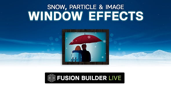 Fusion Builder Live Snow, Particle & Image Window Effects for Avada Live (v6+)