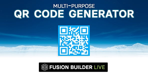 Fusion Builder Live Multi-Purpose QR Code Generator for Avada Live (v6+)