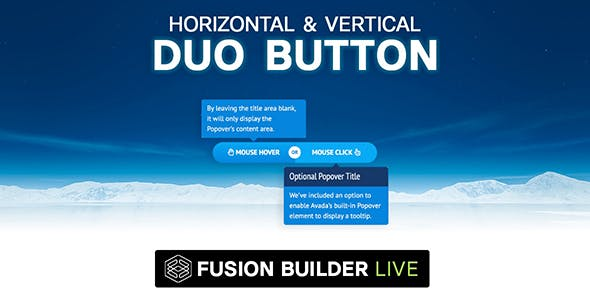 Fusion Builder Live Horizontal & Vertical Duo Button for Avada Live (v6+)
