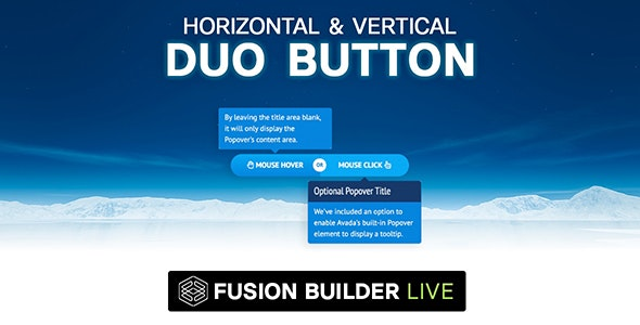 Fusion Builder Live Horizontal & Vertical Duo Button for Avada Live (v6+) - CodeCanyon Item for Sale