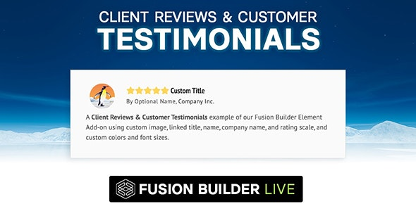 Fusion Builder Live Client Reviews & Customer Testimonials for Avada Live (v6+) - CodeCanyon Item for Sale
