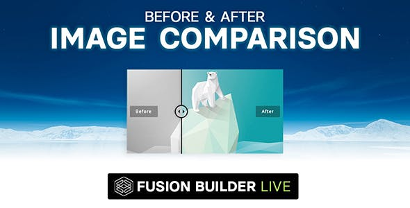 Fusion Builder Live Before & After Image Comparison for Avada Live (v6+)