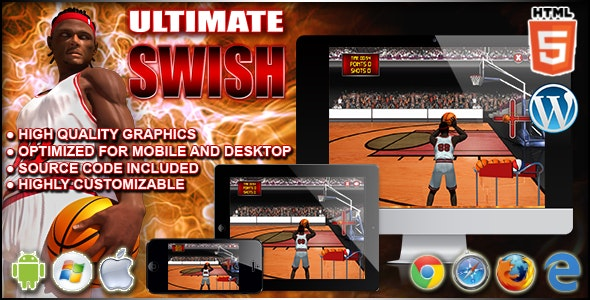 Ultimate Swish - Sport HTML5 Game - CodeCanyon Item for Sale