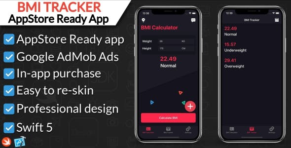 BMI Calculator and Tracker App